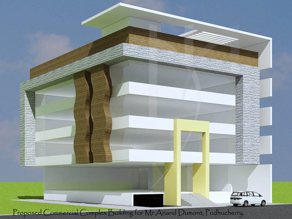 Front Elevation Of Office Building : Front elevation for commercial buildings joy studio